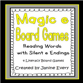 Magic e Board Games:  Silent e Endings