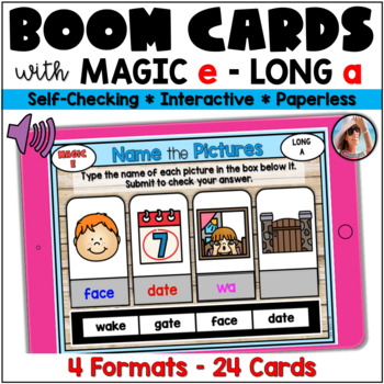 Magic e / CVCe Long A Boom Cards