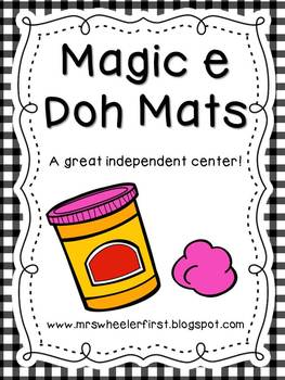 First Grade Phonics: Silent E Play Doh Mats
