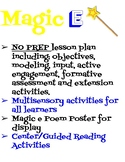 Multisensory Magic 'e' Lesson Plan and Center Activities!
