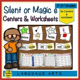 Silent or Magic ē Phonics Centers