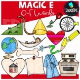 'Magic e' O_e Words Clip Art Bundle {Educlips Clipart}