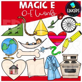 'Magic e' O_e Words Clip Art Bundle