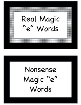 MAGIC 'E' Phonics Centers