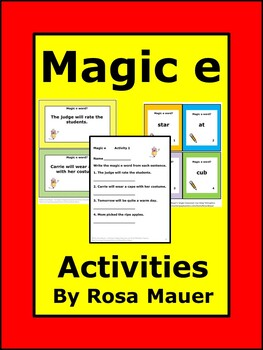 Magic e Task Cards