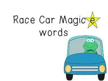 Magic e Race Car words