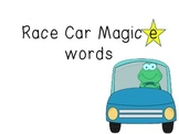 Magic e Race Car words
