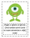 Magic e (Silent e) Word Card Activities