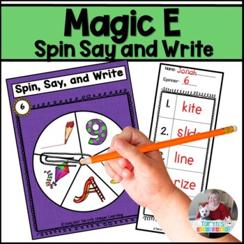 Magic E  Spin, Say, and Write