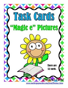 """Magic e"" Task Cards"
