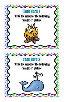 """""""Magic e"""" Task Cards"""