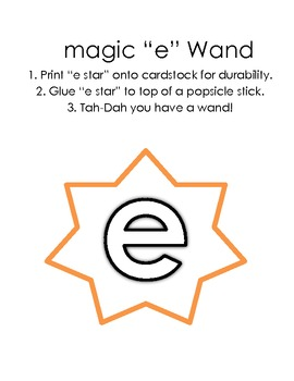 "Magic ""e"" Word Work (silent e, e ending words)"
