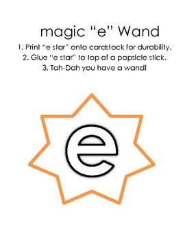 """Magic """"e"""" Word Work (silent e, e ending words)"""