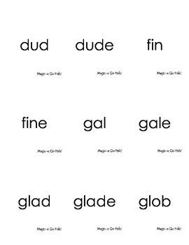 Magic-e Go Fish! Words Practice