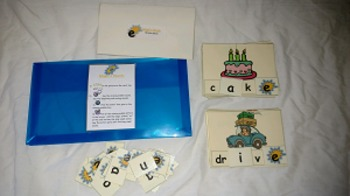 Magic e Words- long vowel sounds- file folder game- resource tool- activity