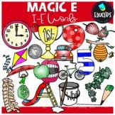 'Magic e' i_e Words Clip Art Bundle {Educlips Clipart}