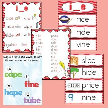Silent E Worksheets and Posters