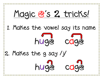 Magic e's tricks, c and g