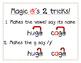 Magic e's tricks, c and g