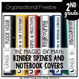 Magic of Math 2nd Grade Binder Spines, Tabs, and Notebook Covers