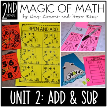 2nd Grade Magic of Math Unit 2:  Addition and Subtraction (NO REGROUPING)