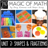 2nd Grade Magic of Math Unit 3:  Geometry and Fractions