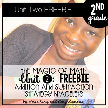 2nd Grade Magic of Math FREEBIE:  Addition and Subtraction Bracelets