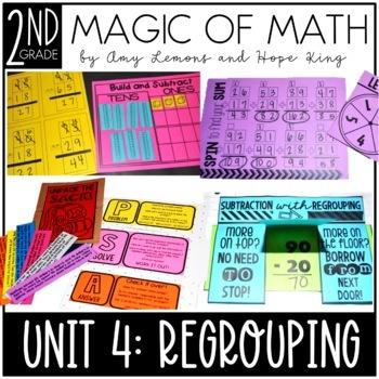 2nd Grade Magic of Math Unit 4:  2 and 3 Digit Regrouping