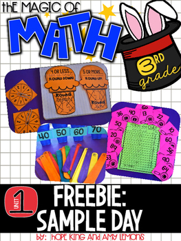 Magic of Math 3rd Grade FREEBIE: Unit 1 Sample Day