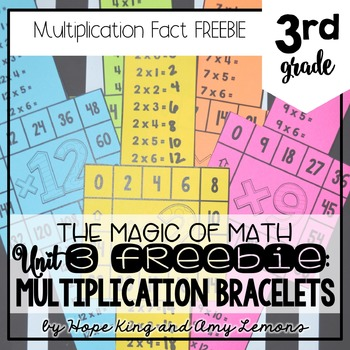 3rd Grade Magic Of Math FREEBIE:  Multiplication Bracelets