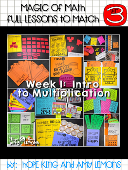 Magic of Math 3rd Grade Unit 3 FREEBIE: Multiplication Fact Bracelets