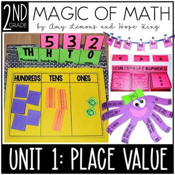 2nd Grade Magic Of Math Unit 1 Place Value By Amy Lemons