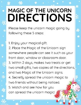Magic of the Unicorn - Acts of Kindness for the Holidays