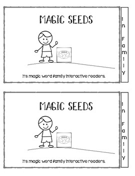 Magic seeds interactive word family cvc readers- in family