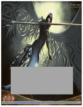 Magic: the Gathering - Angel Theme Binder Covers and Spines