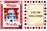Magic words set of deck cards (good manners)