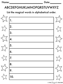 Magical Alphabetical Order Activity