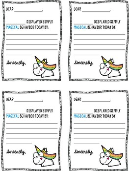Positive Notes Unicorn Theme