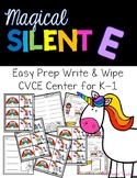 Magical CVCE {Silent E} Center for K-2--Unicorn Theme