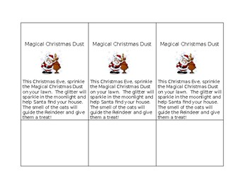 Magical Christmas Dust Tag