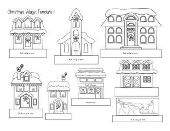 Magical Christmas Village- Writing/ Art Pack