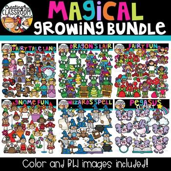 Magical Clipart Growing Bundle {Fairytale Clipart}