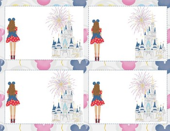 Disney Contact Cards or Supply Labels for Class Organization and Communication