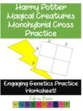 Magical Creatures Monohybrid Cross Practice- Harry Potter Punnett Squares