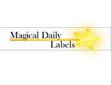 Magic Themed Magical Daily Labels for 3 Drawer Bins