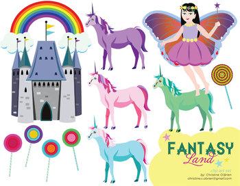 Magical Fantasy Land Clip Art Set