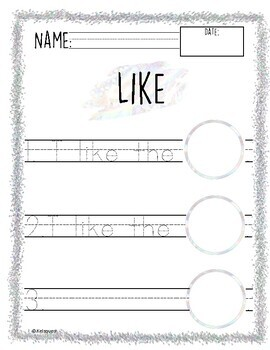 Magical High Frequency Word Worksheets!