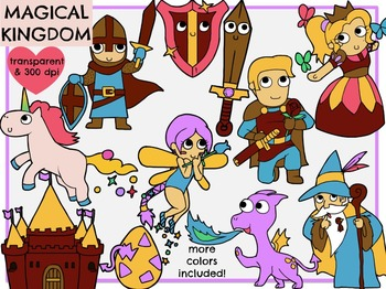 Magical Kingdoms - 2 Sets! (Digital Clip Art)