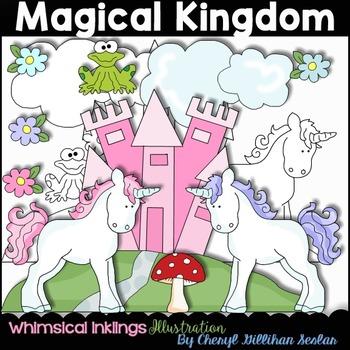 Magical Kingdom Clipart Collection- Unicorns