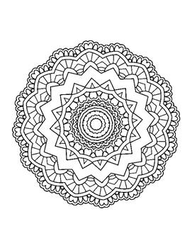 Magical Mandalas 2 - 10 Page Coloring Book